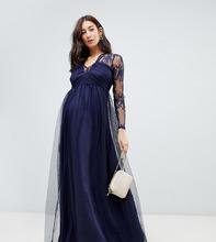 ASOS | Кружевное платье макси с длинными рукавами ASOS Maternity | Clouty