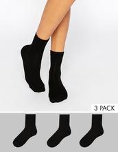 ASOS | Комплект из 3 пар черных носков ASOS - Черный | Clouty