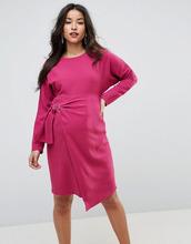 ASOS | Платье мини с запахом на юбке ASOS Maternity - Фиолетовый | Clouty