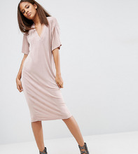ASOS | Платье-футболка ASOS TALL - Розовый | Clouty