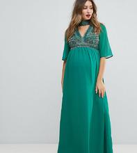 ASOS | Декорированное платье макси с V-образным вырезом ASOS MATERNITY | Clouty