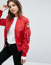Alpha Industries | Двусторонний бомбер Alpha Industries MA-1 TT - Красный | Clouty