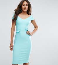 Vesper | Платье-футляр миди с карманами Vesper Tall - Зеленый | Clouty