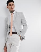 ASOS | Серый супероблегающий блейзер из фактурной ткани с добавлением шерсти | Clouty