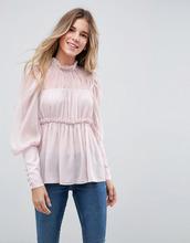 ASOS   Кружевная свободная блузка ASOS - Розовый   Clouty