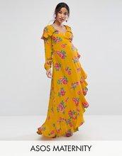 ASOS | Платье макси с длинными рукавами и цветочным принтом ASOS Maternity | Clouty