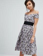 Vesper | Короткое приталенное платье с принтом бабочек Vesper - Мульти | Clouty