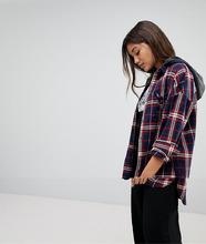 Noisy May | Рубашка в клетку с капюшоном Noisy May - Мульти | Clouty