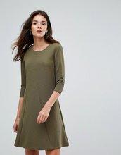 Vila | Приталенное платье с рукавами 3/4 Vila - Зеленый | Clouty