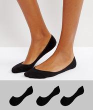 ASOS | Комплект из 3 пар носков ASOS - Черный | Clouty