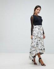 Coast | Платье с фактурной юбкой Coast Avery - Серебряный | Clouty