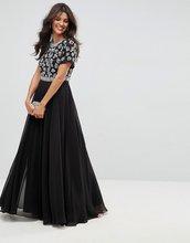 ASOS   Платье макси с короткими рукавами и декоративной отделкой ASOS   Clouty