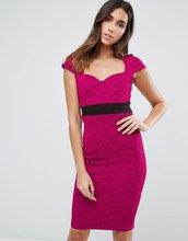 Vesper | Платье-футляр с контрастным поясом Vesper - Розовый | Clouty