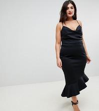 ASOS | Платье миди на бретелях ASOS CURVE - Черный | Clouty