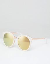 ASOS   Круглые солнцезащитные oversize-очки в стиле преппи с зеркальными стек   Clouty