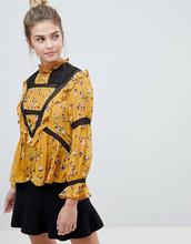 ASOS   Блузка в викторианском стиле с цветочным принтом и отделкой кроше ASOS   Clouty