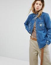 CARHARTT   Свободная джинсовая рубашка с карманами на груди Carhartt WIP - Синий   Clouty