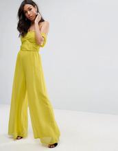 ASOS | Шифоновый комбинезон бандо с открытыми плечами ASOS - Желтый | Clouty