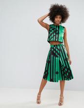 Horrockses   Комбинируемая юбка миди с разноцветным принтом Horrockses - Мульти   Clouty