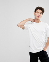 Selected Homme | Oversize-футболка с заниженной линией плеч Selected Homme - Белый | Clouty