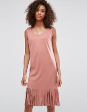 Vila | Платье с бахромой Vila - Черный | Clouty