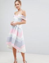 ASOS   Платье для выпускного с открытыми плечами ASOS - Мульти   Clouty