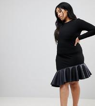 ASOS | Платье мини из полиуретана ASOS CURVE - Черный | Clouty