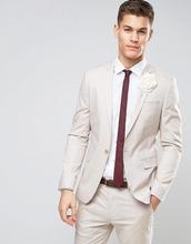 ASOS | Желтовато-серый пиджак скинни из эластичного хлопка ASOS - Серый | Clouty