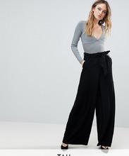 Y.A.S.   Широкие брюки с завышенной талией Y.A.S Tall - Черный   Clouty