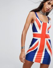 Jaded London | Платье мини с принтом британского флага Jaded London - Мульти | Clouty