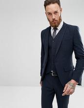 ASOS | Темно-синий пиджак скинни ASOS - Темно-синий | Clouty