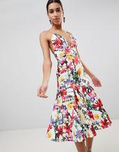 ASOS | Платье для выпускного с цветочным принтом ASOS Premium - Мульти | Clouty