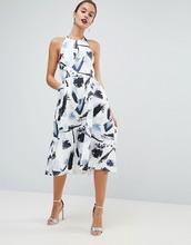 ASOS | Платье для выпускного с высоким воротом и монохромным принтом ASOS | Clouty
