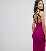 Vesper | Платье миди с бретельками на спине Vesper Tall - Фиолетовый | Clouty