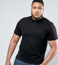 ASOS   Черная футболка-поло ASOS PLUS - Черный   Clouty