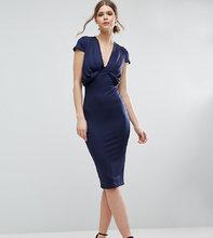 ASOS | Креповое платье-футболка миди со складками спереди ASOS TALL | Clouty