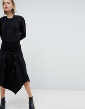 ASOS   Трикотажное платье с присборенной драпировкой ASOS WHITE - Серый   Clouty
