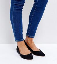 ASOS | Балетки с острым носком ASOS LATCH - Черный | Clouty