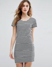 Vila | Платье-футболка в полоску Vila - Черный | Clouty