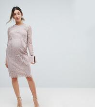 ASOS | Кружевное платье-футляр миди с длинными рукавами ASOS Maternity | Clouty