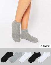 ASOS | 5 пар спортивных носков ASOS - Мульти | Clouty