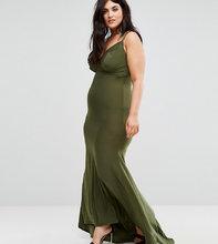Club L | Платье макси Club L Plus - Зеленый | Clouty