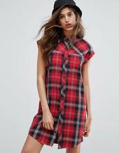 CARHARTT   Платье-рубашка без рукавов в клетку тартан Carhartt WIP Leila   Clouty
