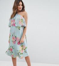 ASOS | Платье с цветочным принтом ASOS Maternity - Серый | Clouty
