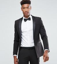 ASOS | Черный супероблегающий пиджак-смокинг ASOS TALL - Черный | Clouty