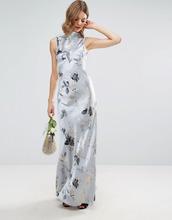 ASOS | Платье макси в стиле 40-х с серебристыми розами ASOS WEDDING - Мульти | Clouty