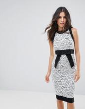 Vesper | Платье-футляр с кружевной вставкой Vesper - Мульти | Clouty