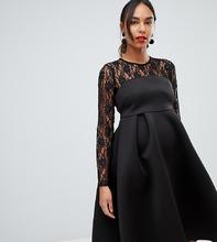 ASOS | Платье с кружевным топом ASOS MATERNITY - Черный | Clouty