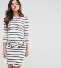 ASOS | Облегающее платье в полоску ASOS Maternity - Белый | Clouty
