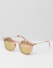 ASOS   Круглые солнцезащитные очки в розовой мраморной оправе с зеркальными с   Clouty